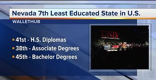 Nevada scores low on education study