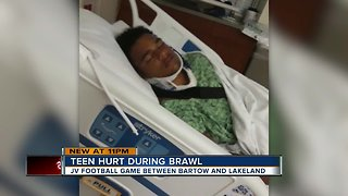 Bartow High School football player remains hospitalized after brawl between rival teams during game - Video