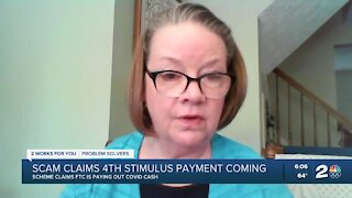 Scam claims 4th stimulus payment is on the way