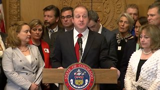 Colorado Gov. Jared Polis discusses threats made to Jeffco schools