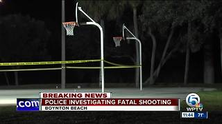 Fatal shooting at Caloosa Park in Boynton Beach