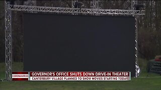 Governor's office shuts down Canterbury Village drive-in theater