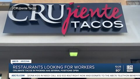 We're Open, Arizona: CRUjiente Tacos hiring for prep cooks, line cooks, and dishwashers