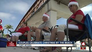 Couples celebrate Christmas on Fort Myers Beach - Video