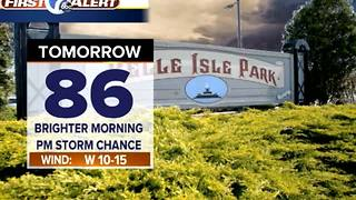 Showers ending, some clearing - Video