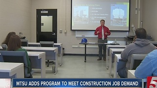 MTSU Adds Program To Address Construction Job Demand - Video