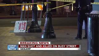 1 dead in Gaslamp Quarter shooting - Video