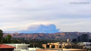 Huge Plumes of Smoke Billow From Thomas Fire - Video