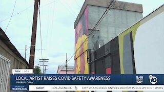 Mural raises COVID-19 safety awareness