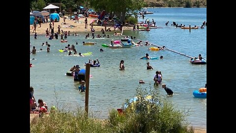 Triple digit heatwave sends people flocking to area lakes, beaches and rivers