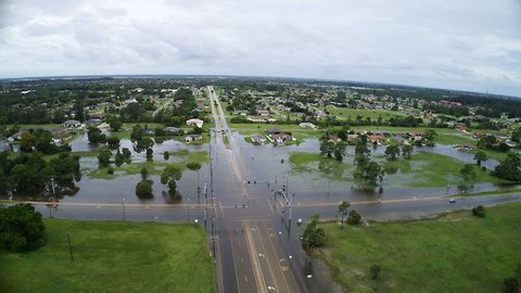 Drone Video Captures Flooding in Cape Coral, Florida