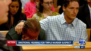 Emotional hearing for triple murder suspect