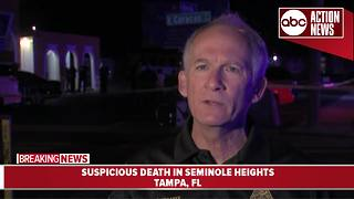 Seminole Heights suspicious death under investigation | Tampa police update from scene - Video