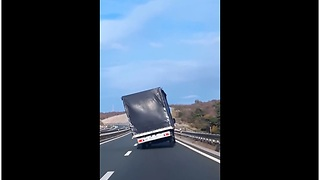 Expert Driver Saves His Truck From Tipping Over In Croatia - Video