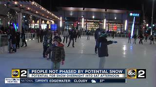 Snow could be heading our way, people aren't changing weekend plans - Video