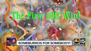 Free food for an entire year! Someburros celebrating new location - Video