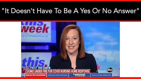 Jen Psaki Won't Say A Bad Word About Cuomo's Nursing Home Deaths