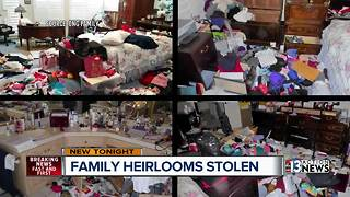 Crooks steal 400 pound safe with family heirlooms inside - Video