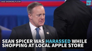 Sean Spicer Harassed While Shopping At Local Apple Store - Video
