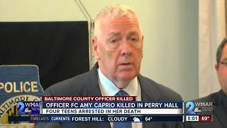 Suspects arrested, murder charges filed in death of Baltimore County Police Officer Amy Caprio - Video