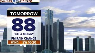Fewer storms overnight - Video