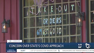 Concern over California's COVID-19 approach