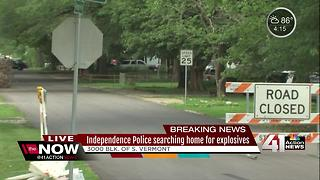 Independence police conduct explosive device investigation - Video