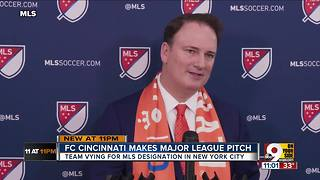 FC Cincinnati makes major league pitch - Video