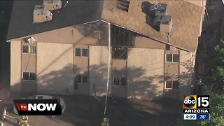 Man in custody, 18 displaced after fire at Phoenix apartment complex