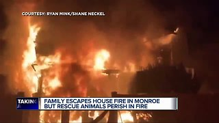 Family escapes house fire, but rescue animals die