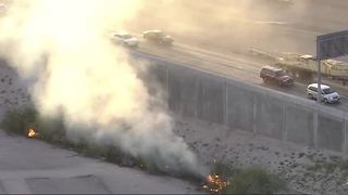 Brush fire near 95 southbound - Video