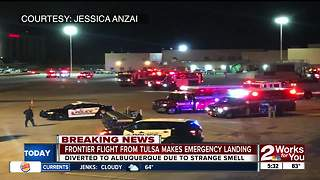 Tulsa flight makes emergency landing after smoke in plane - Video