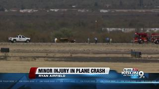 Small plane crashes at Ryan Airfield - Video