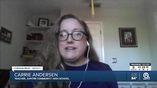 Jupiter teacher says she's losing remote work assignment