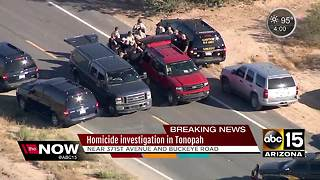 Homicide investigation underway in Tonopah - Video