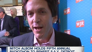 Mitch Albom's S.A.Y. Detroit radiothon raises over $1 million again - Video