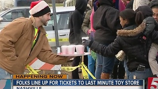 Parents Line Up At Last Minute Toy Drive