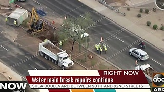 Crews working to repair water main break in Scottsdale