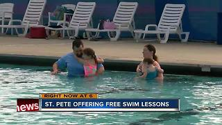 Spots available for free swim lessons in St. Petersburg