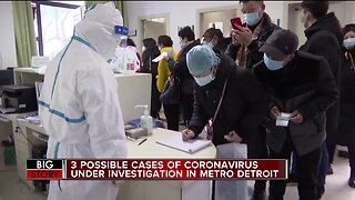 CDC to test 3 people in Michigan for possible case of coronavirus, state said