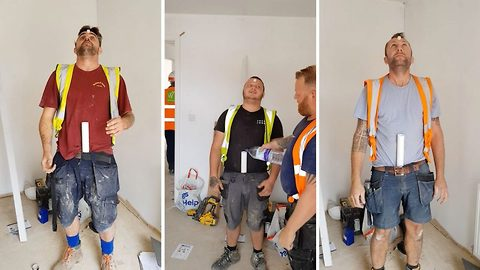 Plumbers Prank Their Apprentice With Water Down His Shorts