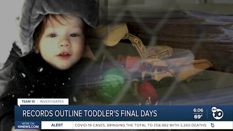 County records outline toddler's final days