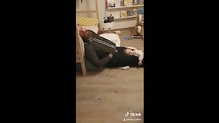 Dad And Daughter Preciously Fall Asleep During Playtime