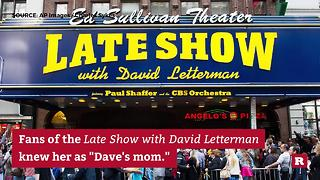 David Letterman's mother dies at 95 | Rare News - Video