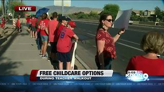 Free childcare options during teacher walkout - Video