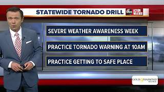 Statewide tornado drill happening Wednesday morning