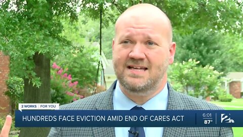Hundreds face eviction amid end of CARES Act