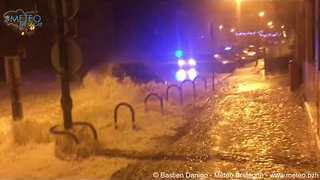 Waves Batter Coastal Towns as Storm Eleanor Reaches France - Video