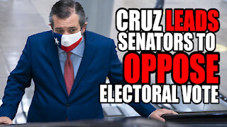 Ted Cruz Leads Senators to OPPOSE Certification of Electoral Vote