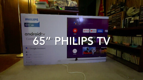 "My New 65"" Philips HDTV"